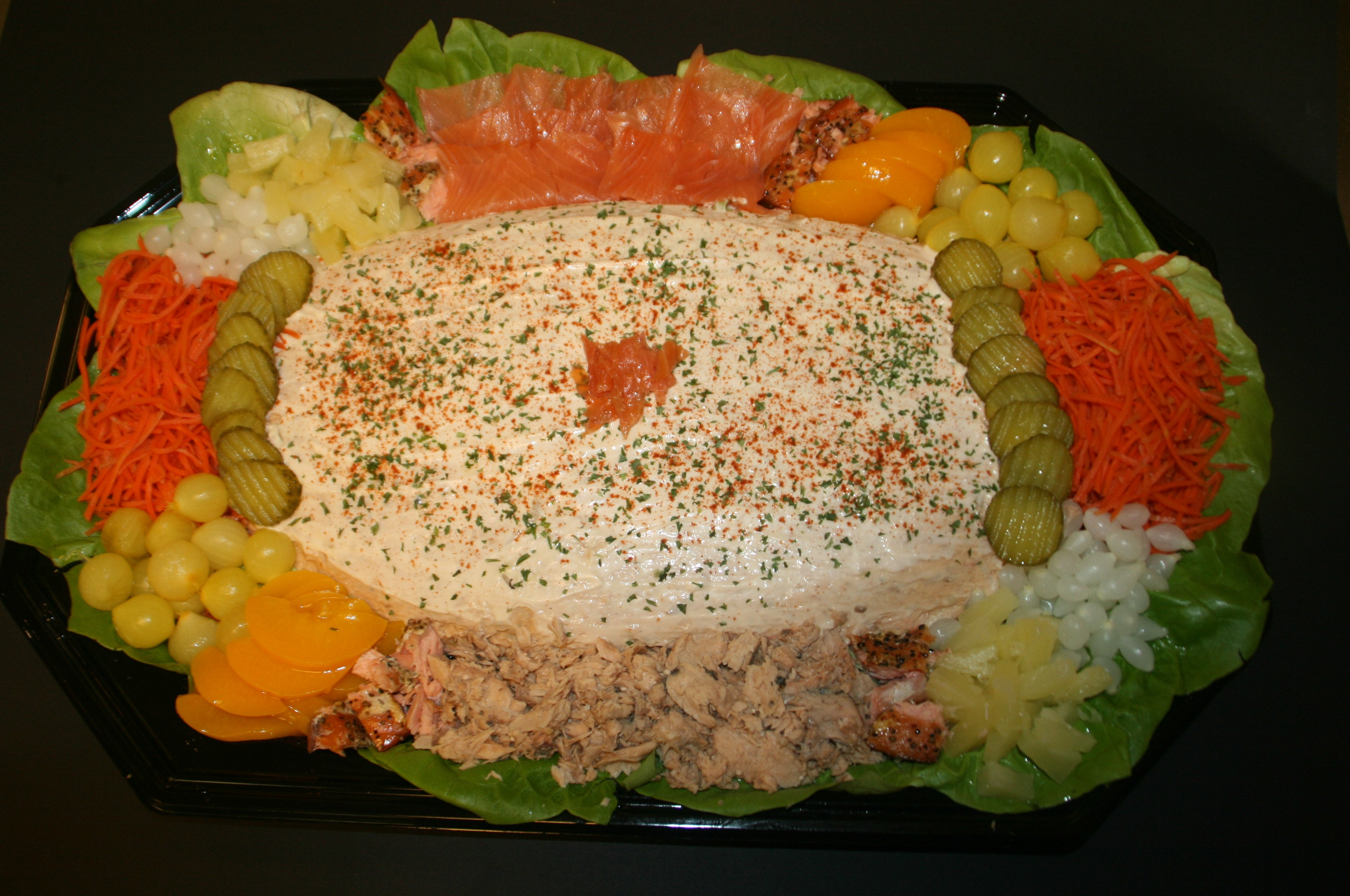 Zalm- of tonijnsalade klein